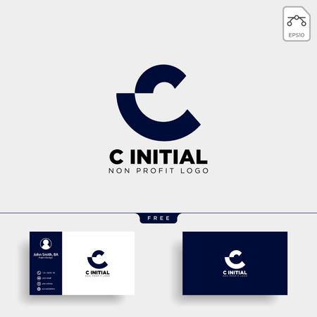 lettera C logo aziendale creativo modello illustrazione vettoriale icona elemento isolato - vector