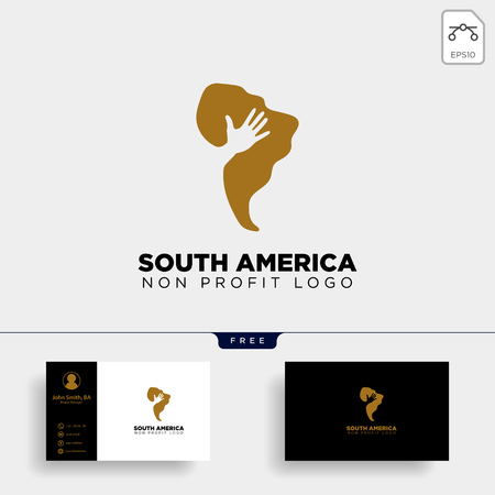 south africa charity logo template vector illustration icon element isolated - vector Illustration