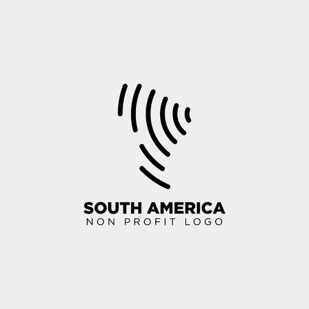 south africa charity logo template vector illustration icon element isolated - vector