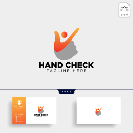 hand check approval community logo template vector illustration icon element isolated - vector
