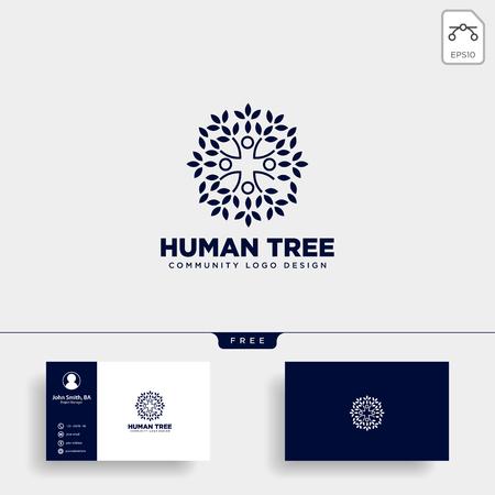 human tree leaf community logo template vector illustration icon element isolated - vector ЛОГОТИПЫ