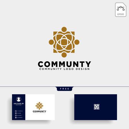 community human logo template vector illustration icon element isolated - vector