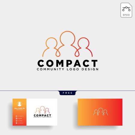 community human logo template vector illustration icon element isolated - vector Logo