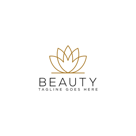 beauty cosmetic line art logo template vector illustration icon element isolated - vector