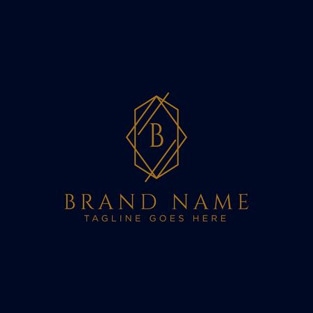 Luxury vector logotype. Premium letter B logo with golden design. Elegant corporate identity vector illustration