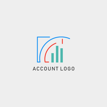 accounting, finance creative logo template vector isolated with business card design - vector Vectores