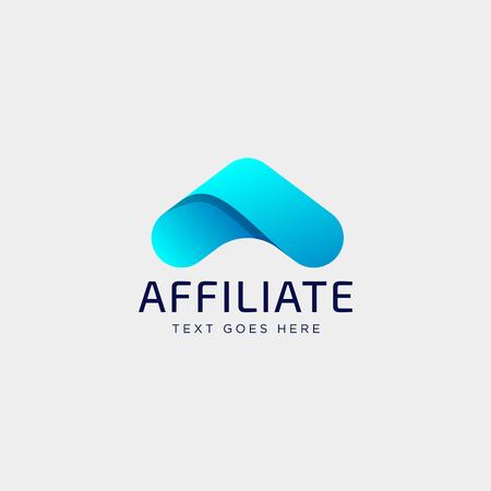 Ilustración de vector de plantilla de logotipo creativo financiero contable letra A con tarjeta de visita Logos