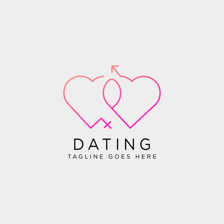 dating love line logo template vector illustration icon element isolated - vector Foto de archivo - 118501270