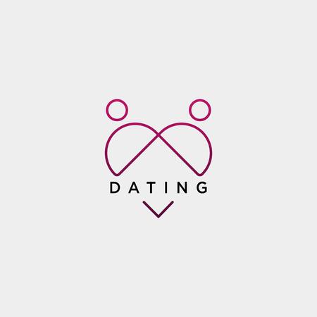 dating love line logo template vector illustration icon element isolated - vector Foto de archivo - 118501273