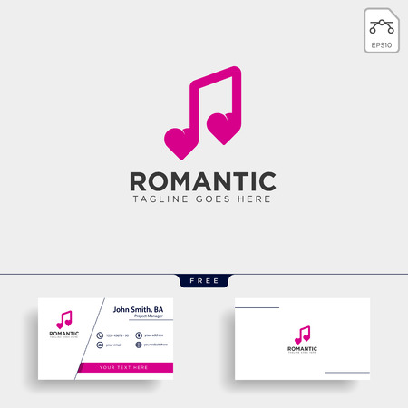 love music symbol or logo template vector illustration icon element isolated Foto de archivo - 118640519