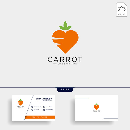 love carrot logo template vector illustration icon element isolated