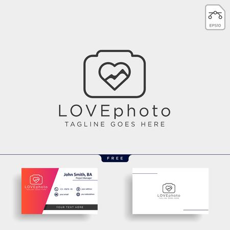 love photography logo template vector illustration icon element isolated Foto de archivo - 118640526