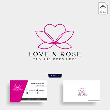 Love Rose Nature logo template vector illustration icon element isolated Foto de archivo - 118640532
