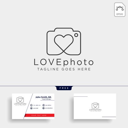 love photography logo template vector illustration icon element isolated Foto de archivo - 118640536