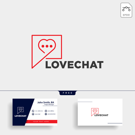 love chat simple creative logo template vector illustration icon element isolated Foto de archivo - 118640547