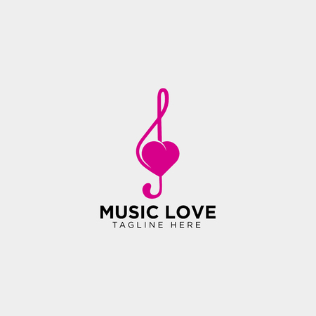 love music symbol or logo template vector illustration icon element isolated Foto de archivo - 118640549