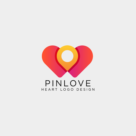 love point location mark logo template vector illustration icon element isolated Foto de archivo - 118640594