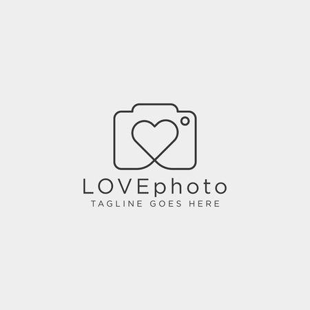 love photography logo template vector illustration icon element isolated Foto de archivo - 118640598