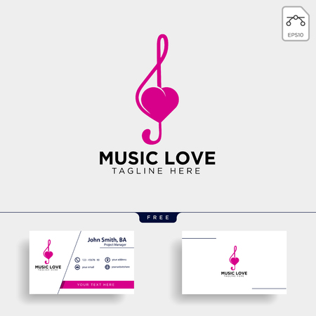 love music symbol or logo template vector illustration icon element isolated