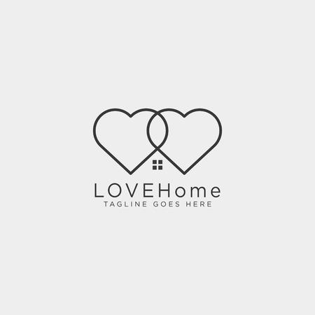 love home line logo template vector illustration icon element isolated - vector Foto de archivo - 118640609