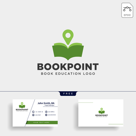 book pin marker or navigation map simple line logo template vector illustration icon element - vector file