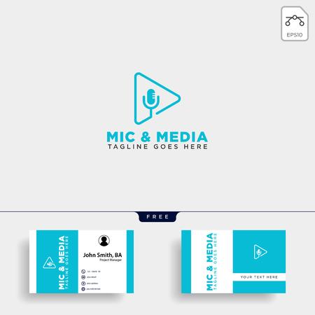 music clip cinema media entertainment simple logo template vector illustration - vector file Stockfoto - 119525231