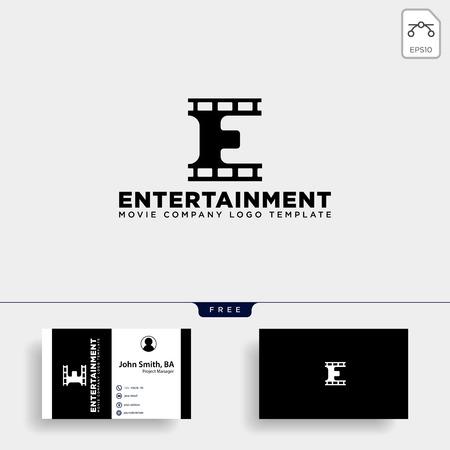lettre minimale E cinéma logo simple modèle vector illustration élément icône - fichier vectoriel
