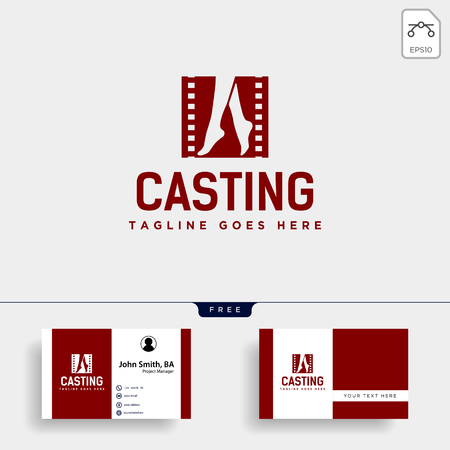 acting show or casting movie simple logo template vector illustration icon element - vector file Imagens - 119818011