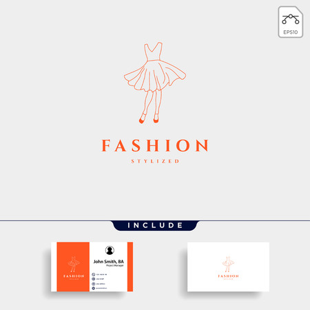 fashion lady beauty collection in simple line logo template vector illustration icon element - vector 矢量图像