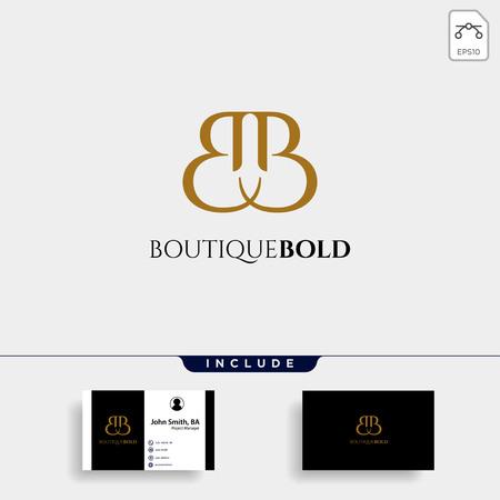 Premium Vector B Logo in gold color. Beautiful Logotype design for luxury company fashion branding - vector Stock Illustratie