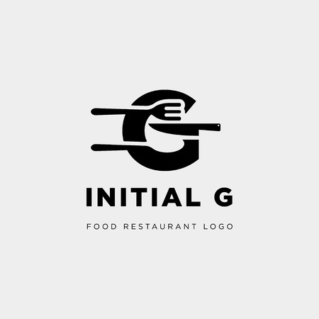 initial g food equipment simple logo template vector icon abstract - vector