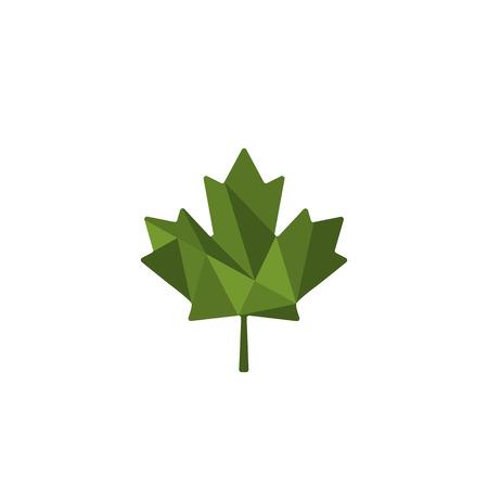green leaf cannabis logo template vector illustration icon element - vector