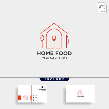 vettore di progettazione del logo piatto semplice dell'attrezzatura alimentare della città city
