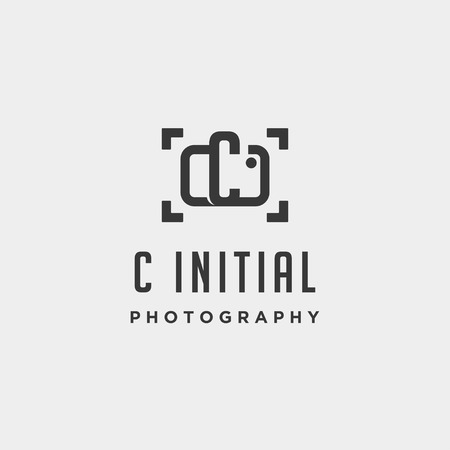 c initial photography logo template vector design icon element Illustration