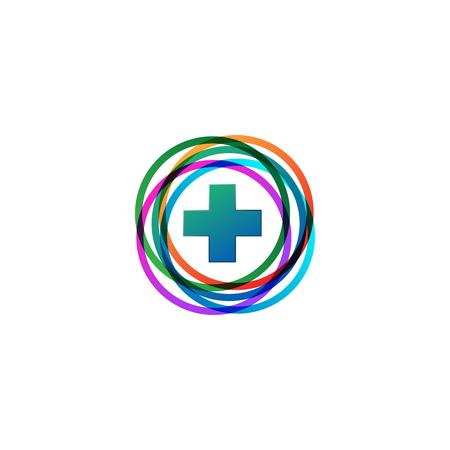 Medical Cross and Health Pharmacy Logo Vector