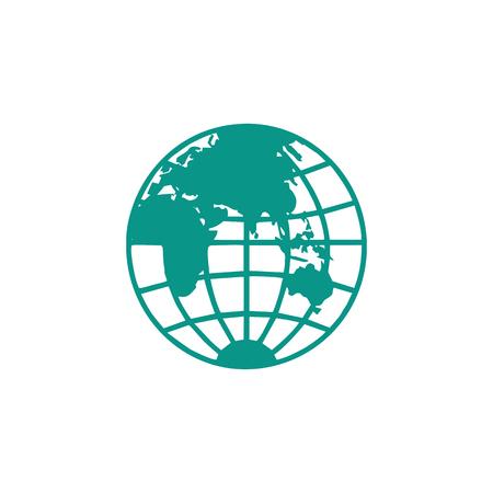 globe logo icon design vector illustration icon element - vector Logo