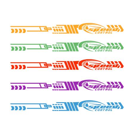 Gráficos de vehículos de bicicletas de automóviles, calcomanías de vinilos - Vector