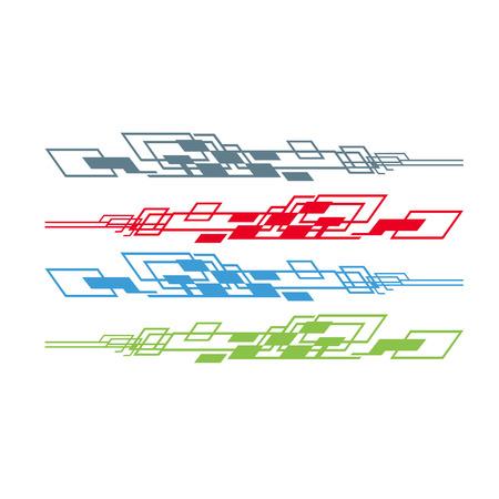 Gráficos de vehículos de bicicletas de automóviles, calcomanías de vinilos - Vector Ilustración de vector