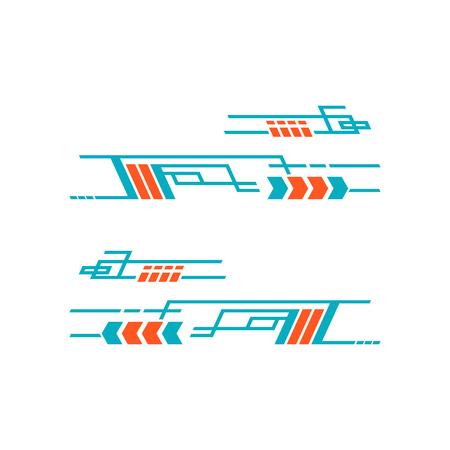 Car Bike Vehicle Graphics, Vinyls Decals - Vector Ilustración de vector