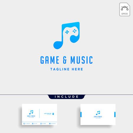 music game logo design template vector illustration - vector