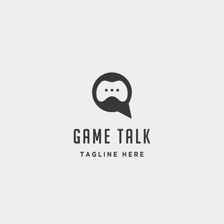 game talk logo design template vector illustration icon element - vector