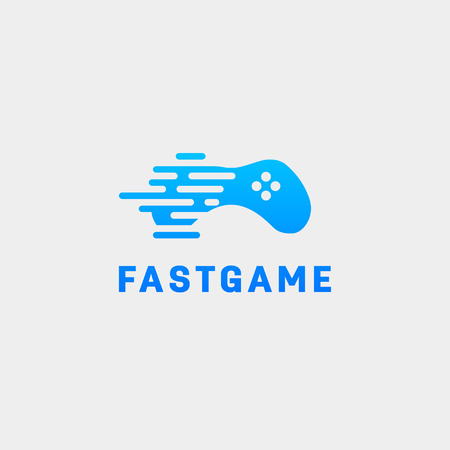 gamepad tech logo design template vector illustration icon element - vector Illustration