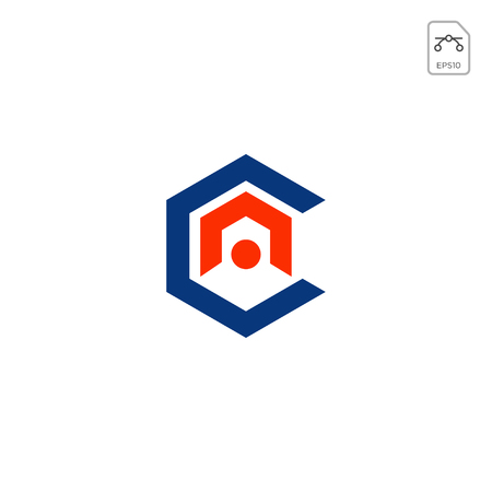 initial AC, CA, A, C Logo template vector illustration Illustration