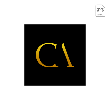 initial AC, CA, A, C Logo template vector illustration 矢量图像