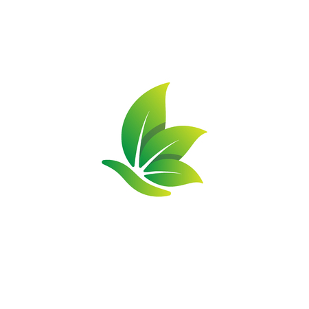 nature leaf logo design vector illustration icon element - vector