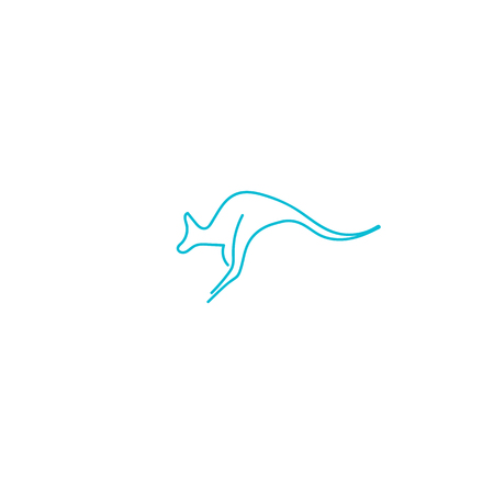 kangaroo logo design vector icon illustration element - vector
