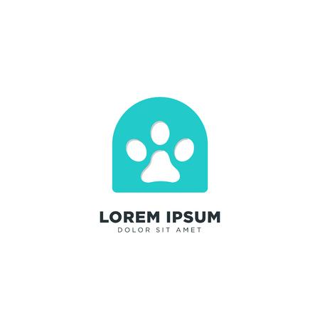 Dog Logo Line design concept vector icon element isolated - vector