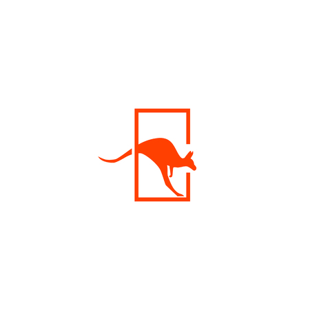 kangaroo logo design vector icon illustration element - vector