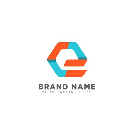 letter E logo design template vector icon illustration for business brand