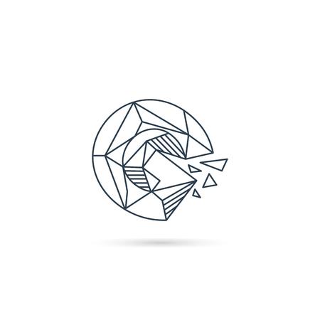 Gemstone lettre g logo design icône modèle élément vecteur isolé - vector